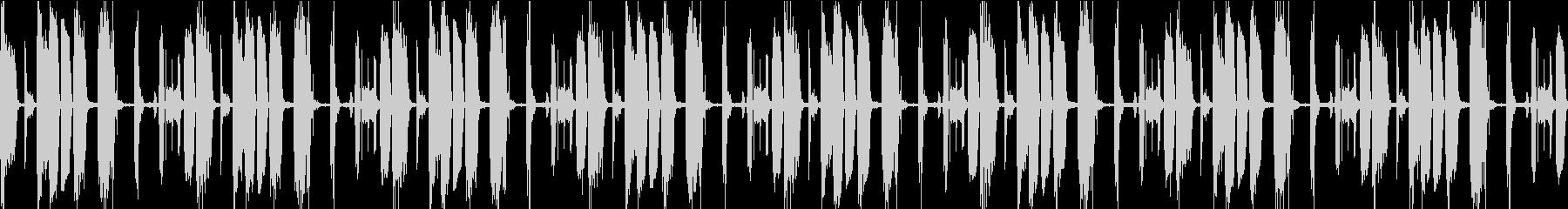 声、アルペジオ、リズム、ループ素材の未再生の波形