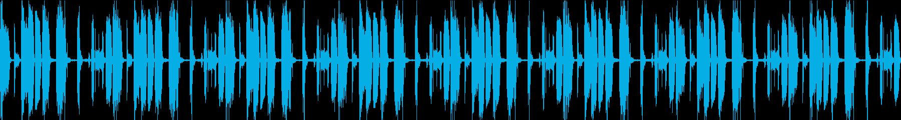 声、アルペジオ、リズム、ループ素材の再生済みの波形