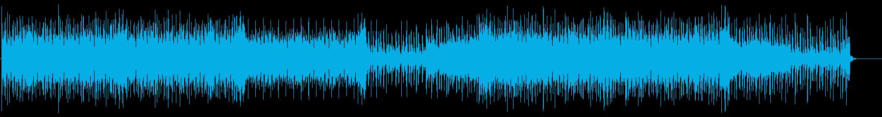 明るいトロピカルEDM 動画BGMの再生済みの波形