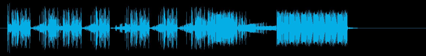 奇数Staticvoxスワイプ1の再生済みの波形