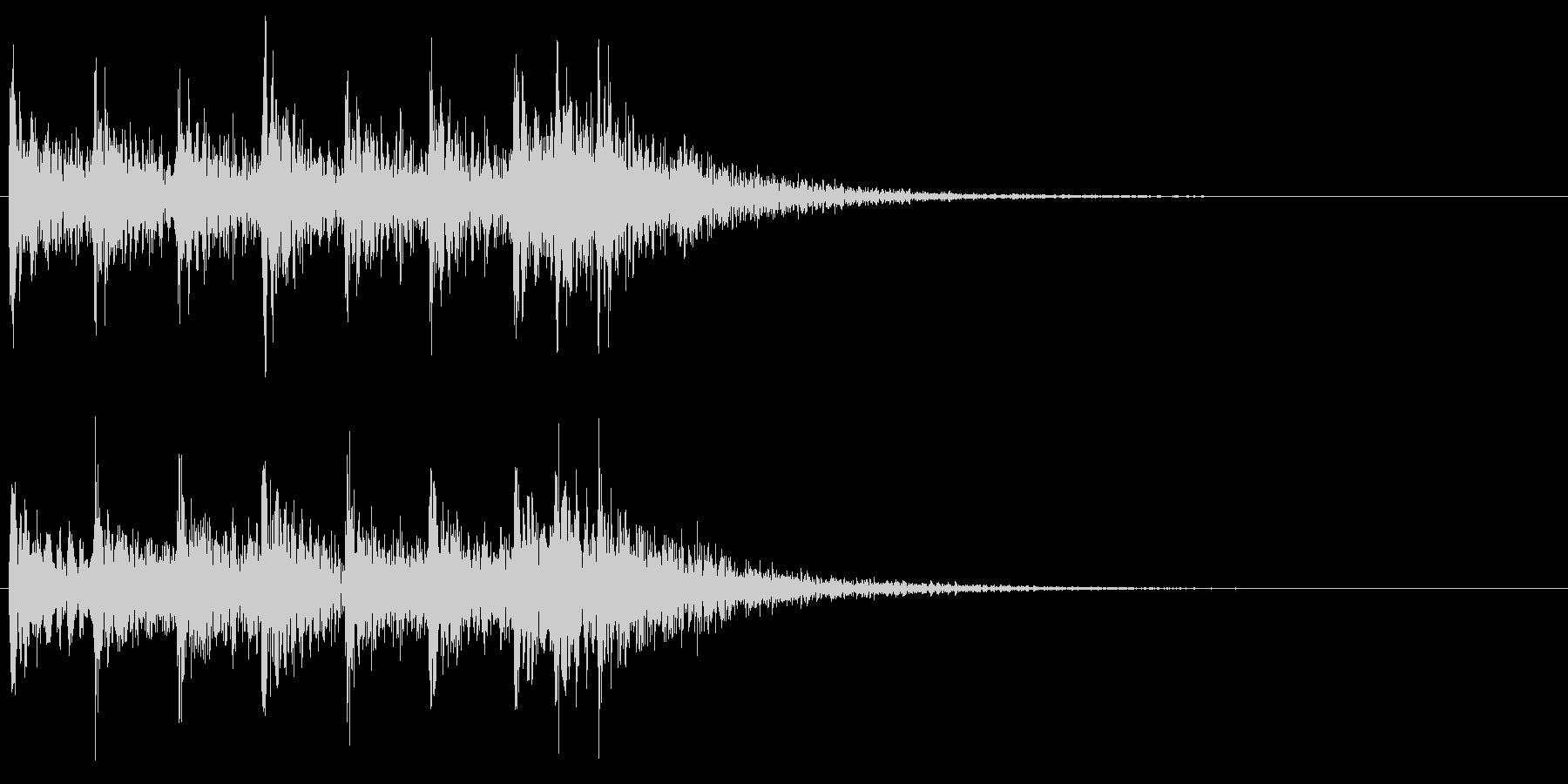 ティンパニ、スネアの場面転換 クリアの未再生の波形