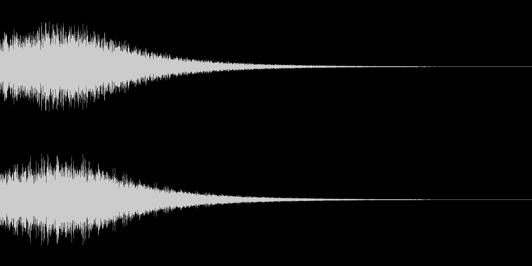 シンセサイザー ゲームスタート3の未再生の波形
