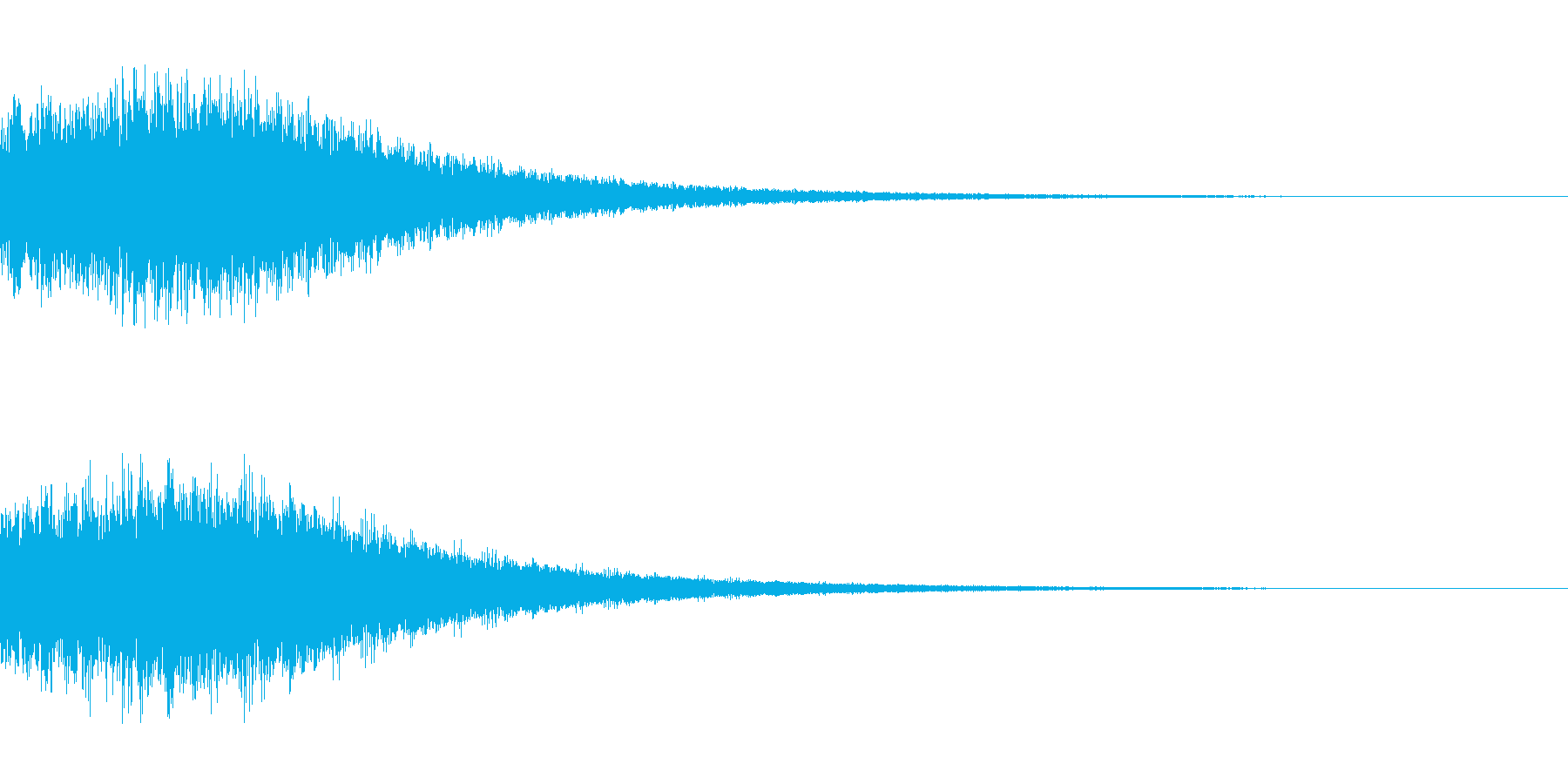シンセサイザー ゲームスタート3の再生済みの波形