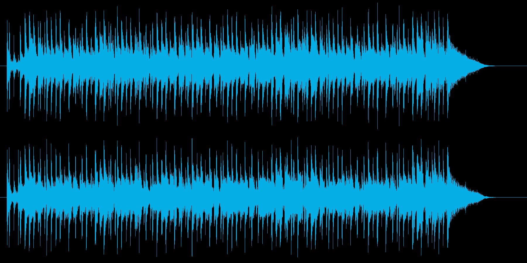 軽快でグルーヴィーなポップスのジングルの再生済みの波形