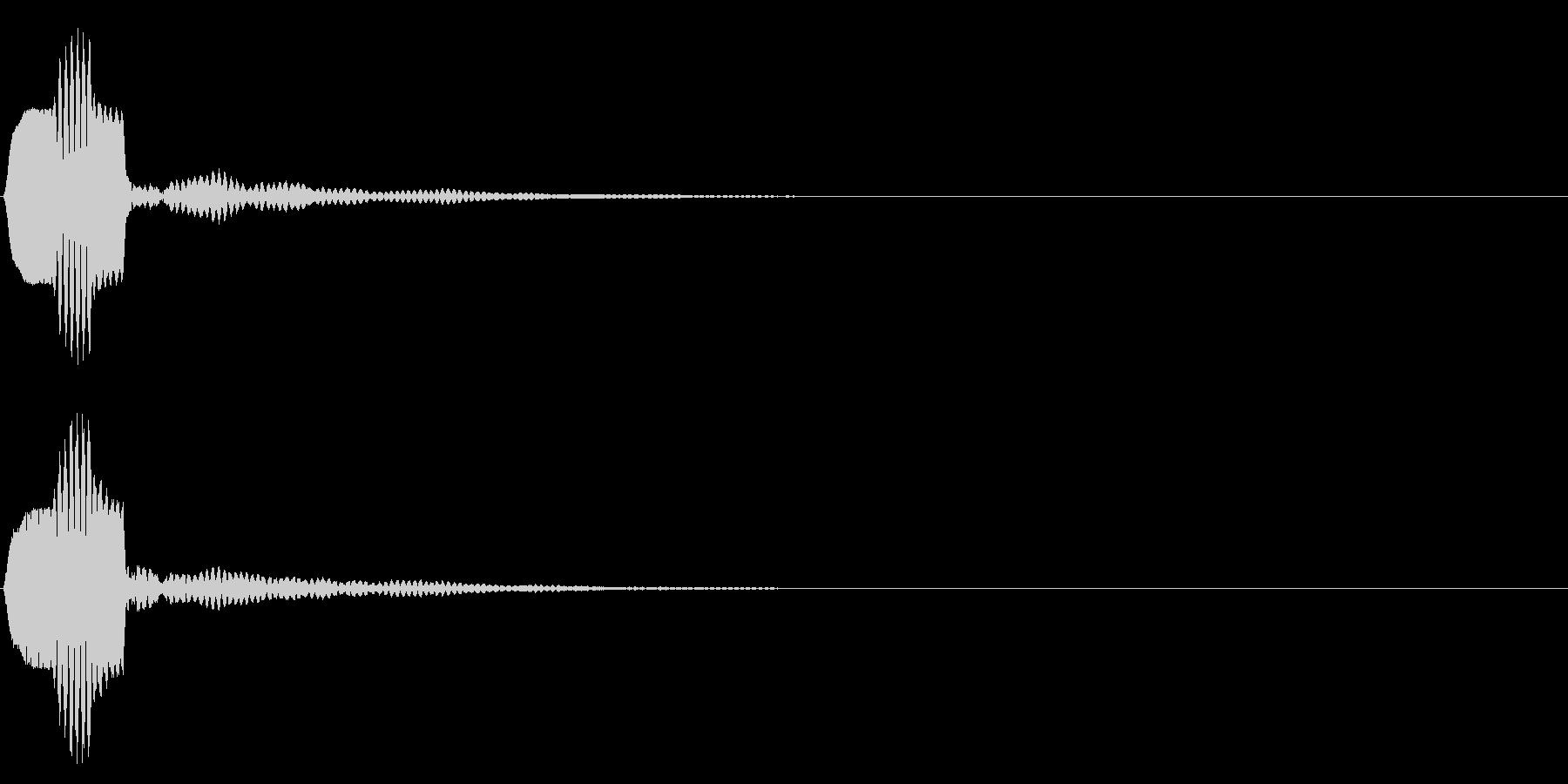 ピコーン 残響(ボタン、決定、スタート)の未再生の波形