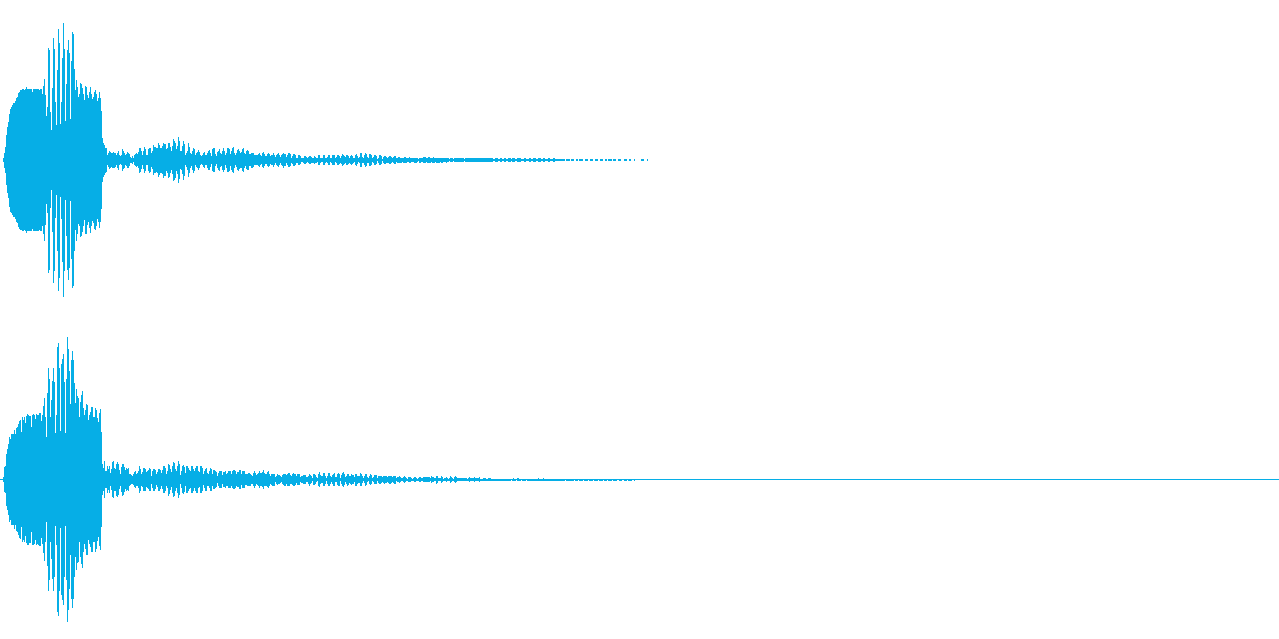 ピコーン 残響(ボタン、決定、スタート)の再生済みの波形