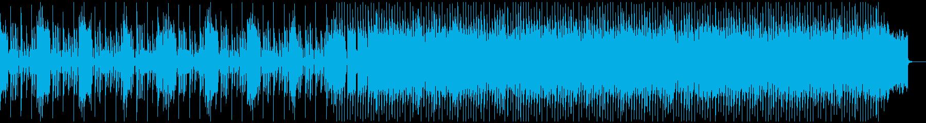 サスペンスから激しい場面に展開するテクノの再生済みの波形