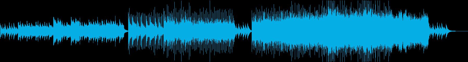 次のステージに進むような切ない曲の再生済みの波形