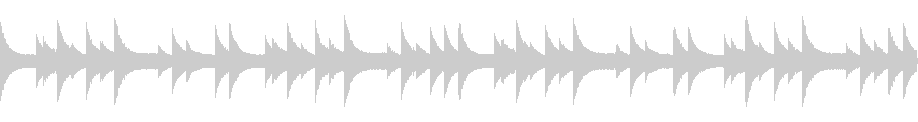 最初の村特有の切ないゲームBGMの未再生の波形