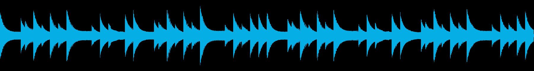 最初の村特有の切ないゲームBGMの再生済みの波形