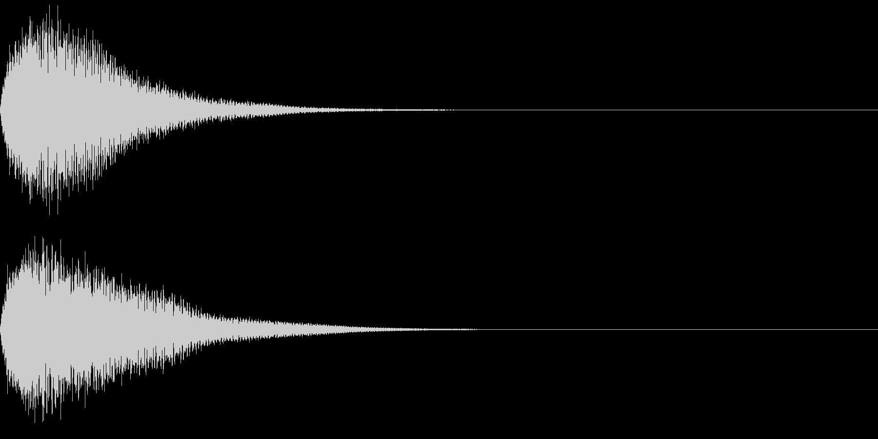 キュイン ボタン ピキーン キーン 3の未再生の波形