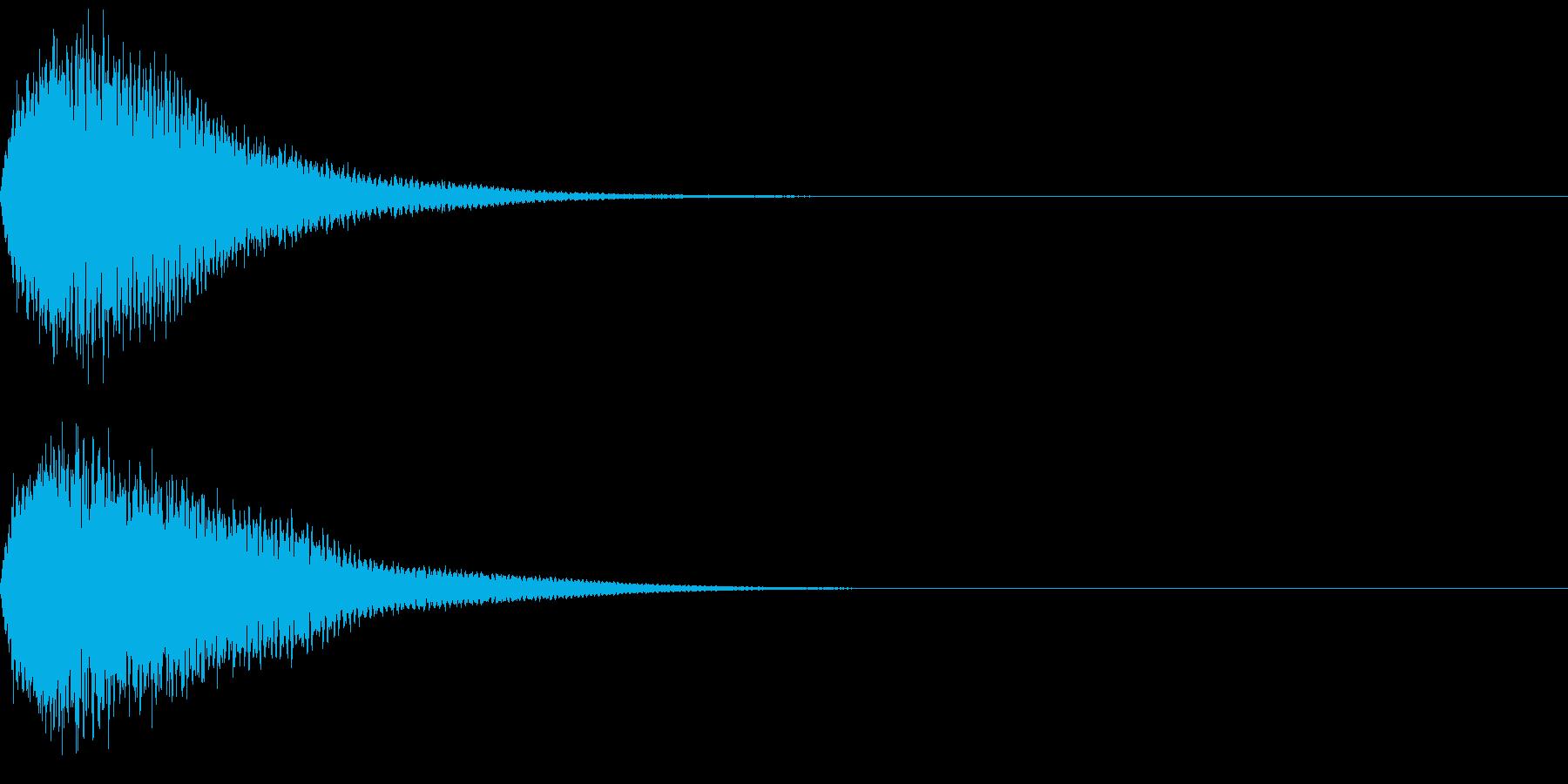 キュイン ボタン ピキーン キーン 3の再生済みの波形