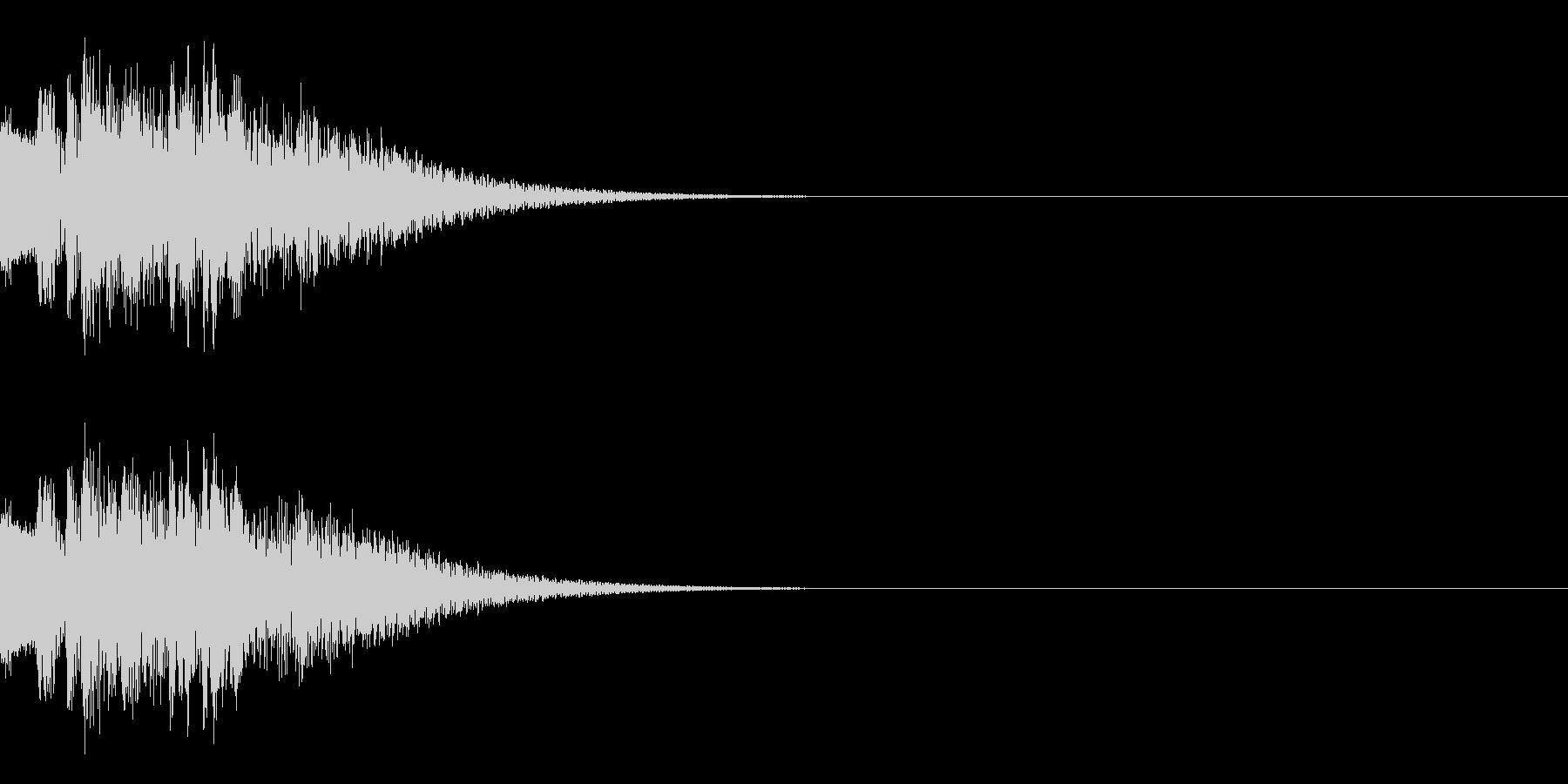ピコーン(ひらめきやレベルアップの音)の未再生の波形