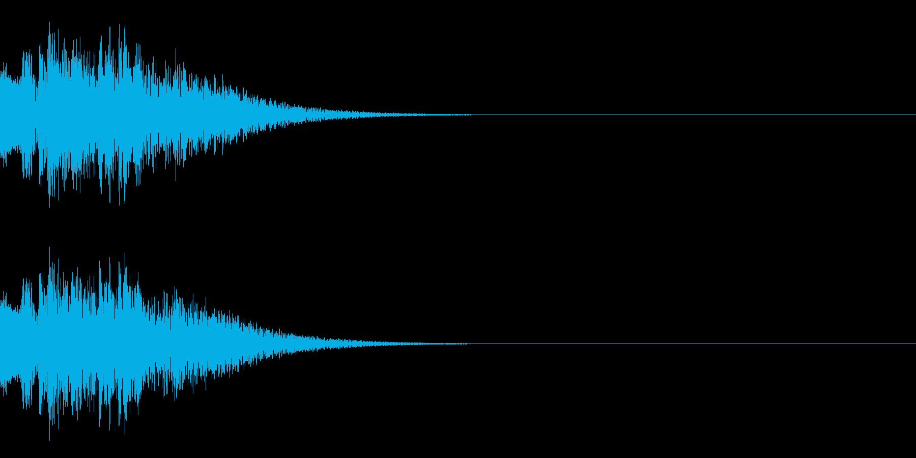ピコーン(ひらめきやレベルアップの音)の再生済みの波形
