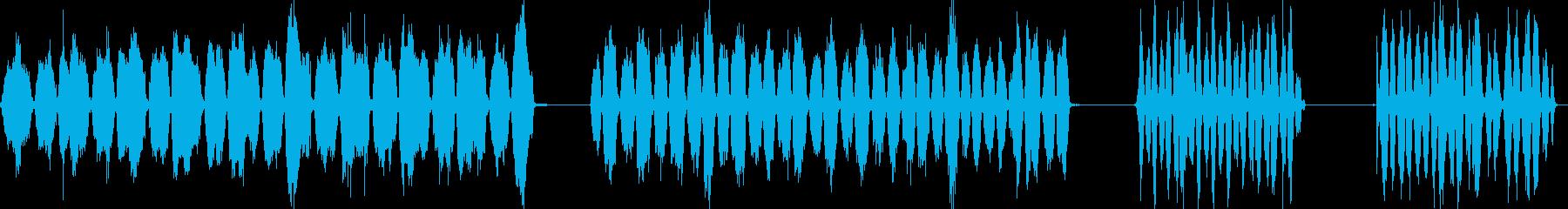 スクラブフロア、スクラブブラシ、4...の再生済みの波形