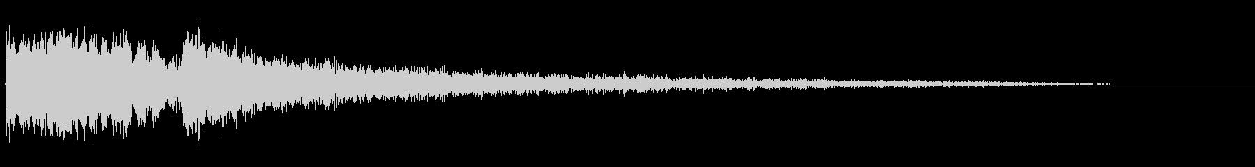 シャープスパッタリングスイープの未再生の波形