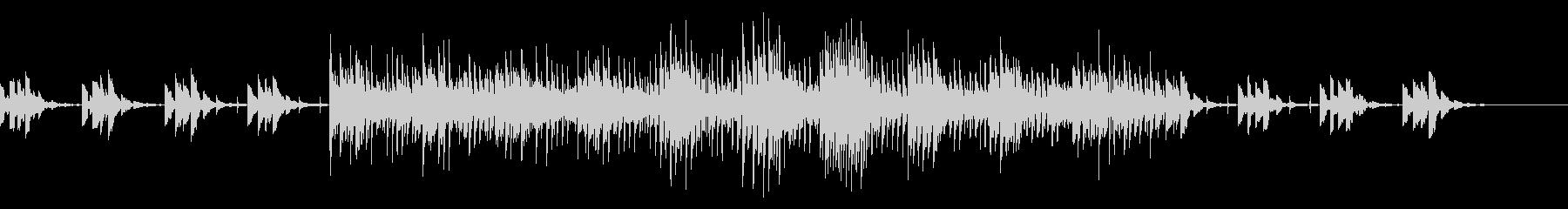 水の波紋が広がる雰囲気の静かな曲の未再生の波形