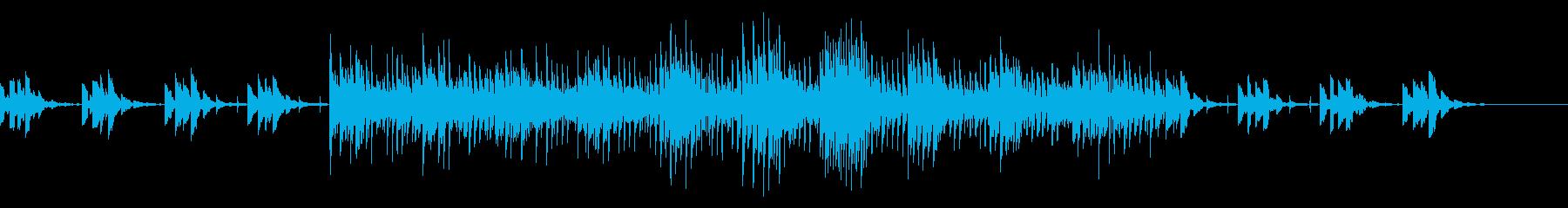 水の波紋が広がる雰囲気の静かな曲の再生済みの波形