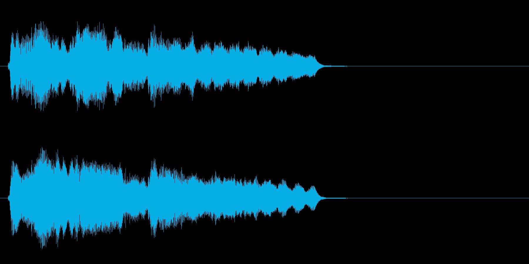 フルートとアコギのおやすみ風ジングルの再生済みの波形