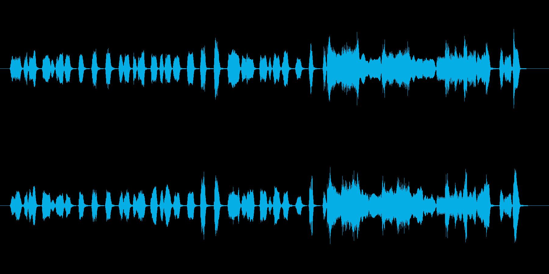 ブラスセクションでのブルージーサウンドの再生済みの波形