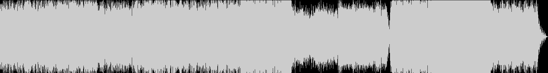 美しい青色ピアノの壮大エレクトロニカの未再生の波形