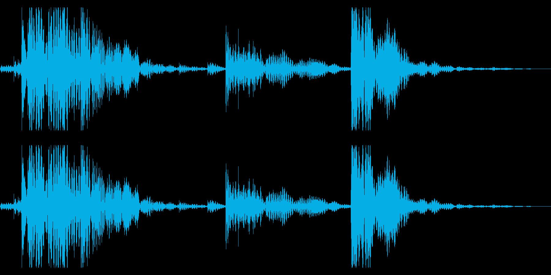 【生録音】チェーンの音 1 ジャラジャラの再生済みの波形