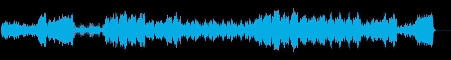 哀愁感のある弦楽四重奏曲の再生済みの波形
