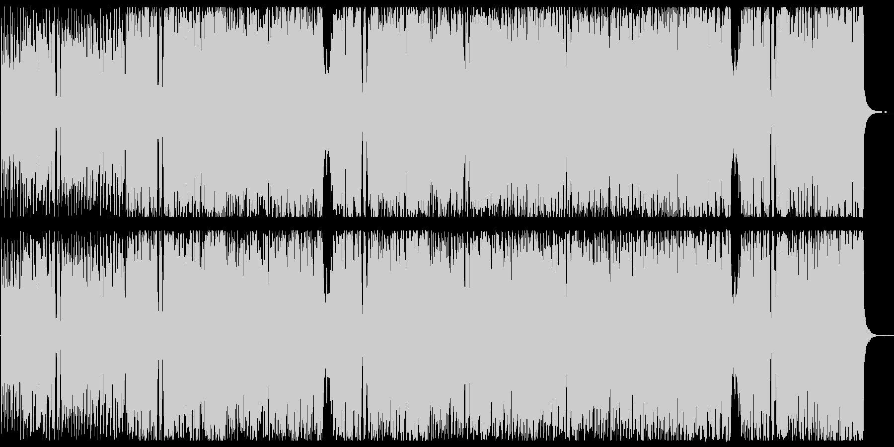 軽快でワクワクするBGMの未再生の波形