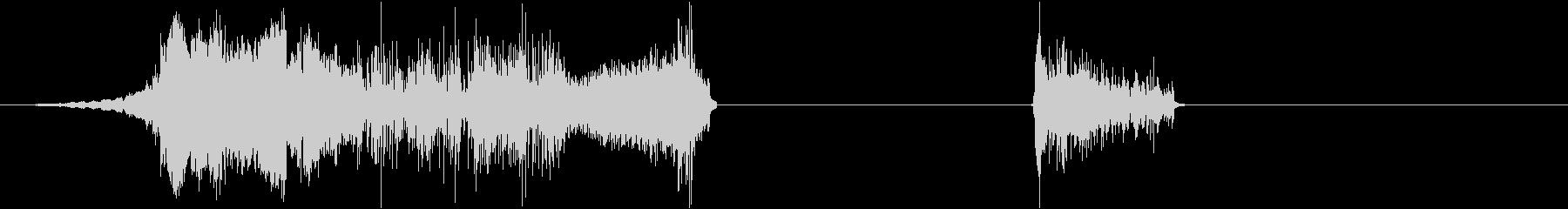 鳴き声-2つの効果;甲高い鳴き声。の未再生の波形