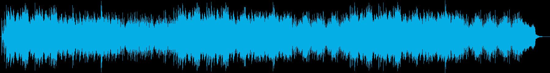 ベルのアクセントが入った優しいピアノの曲の再生済みの波形