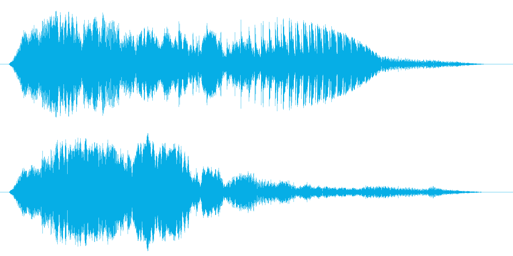 何かが来ていますの再生済みの波形