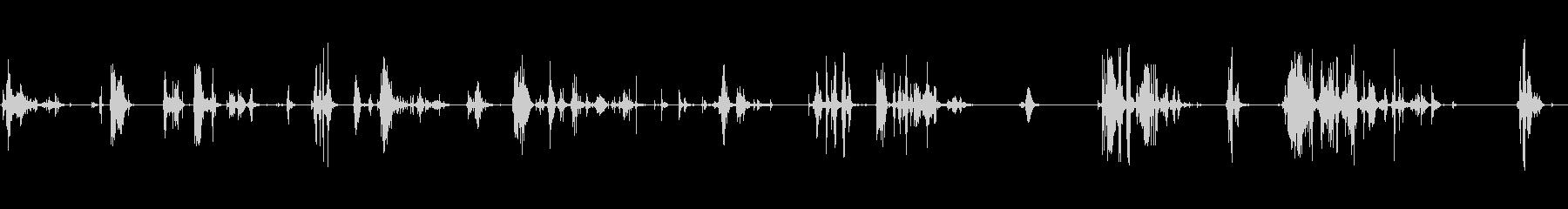シャベルシャベル雪とスラッシュの未再生の波形