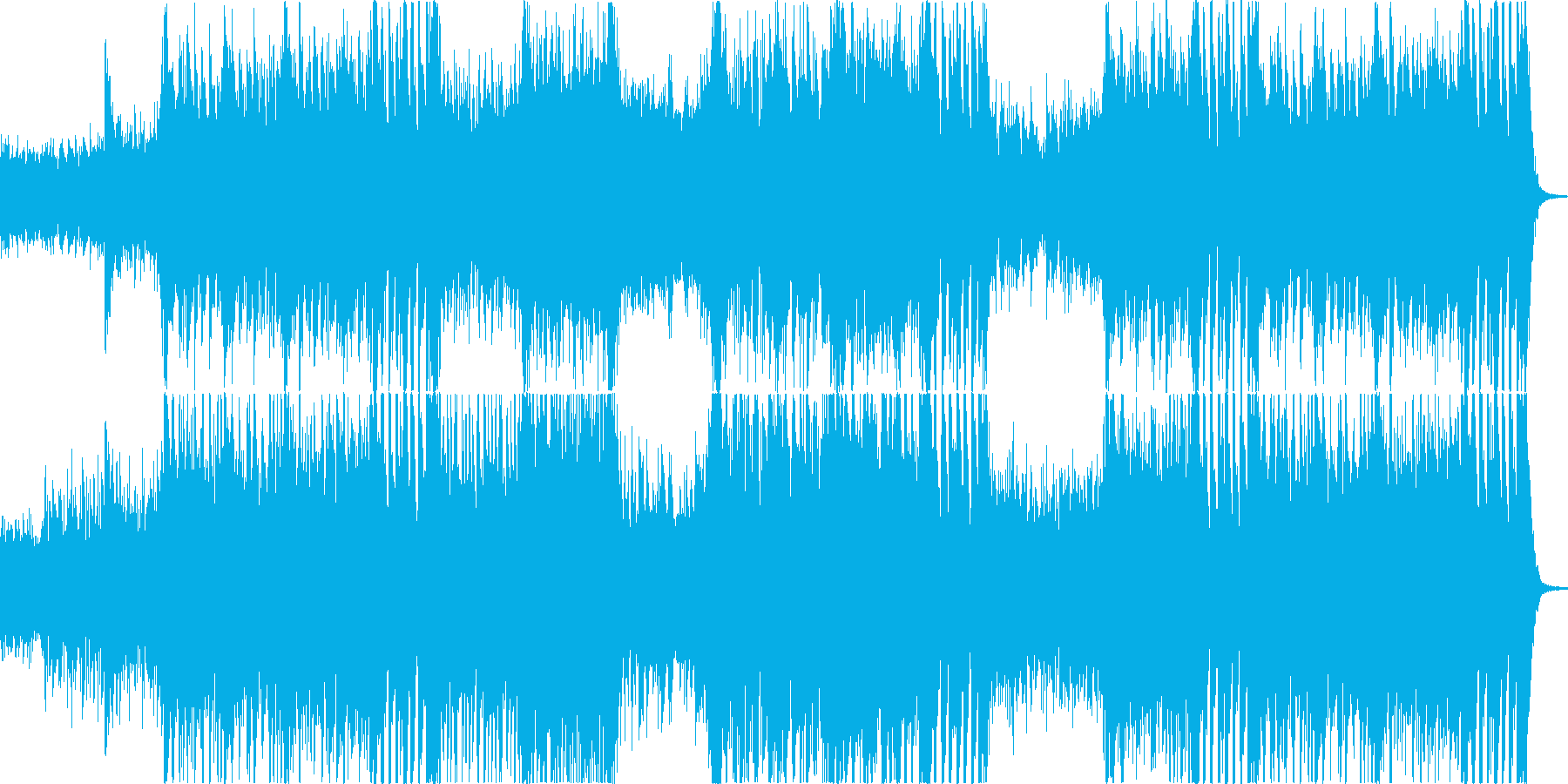 奇妙でミステリアスな迫力をオーケストラでの再生済みの波形
