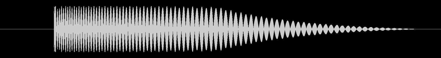 ベース サブキックショート04の未再生の波形