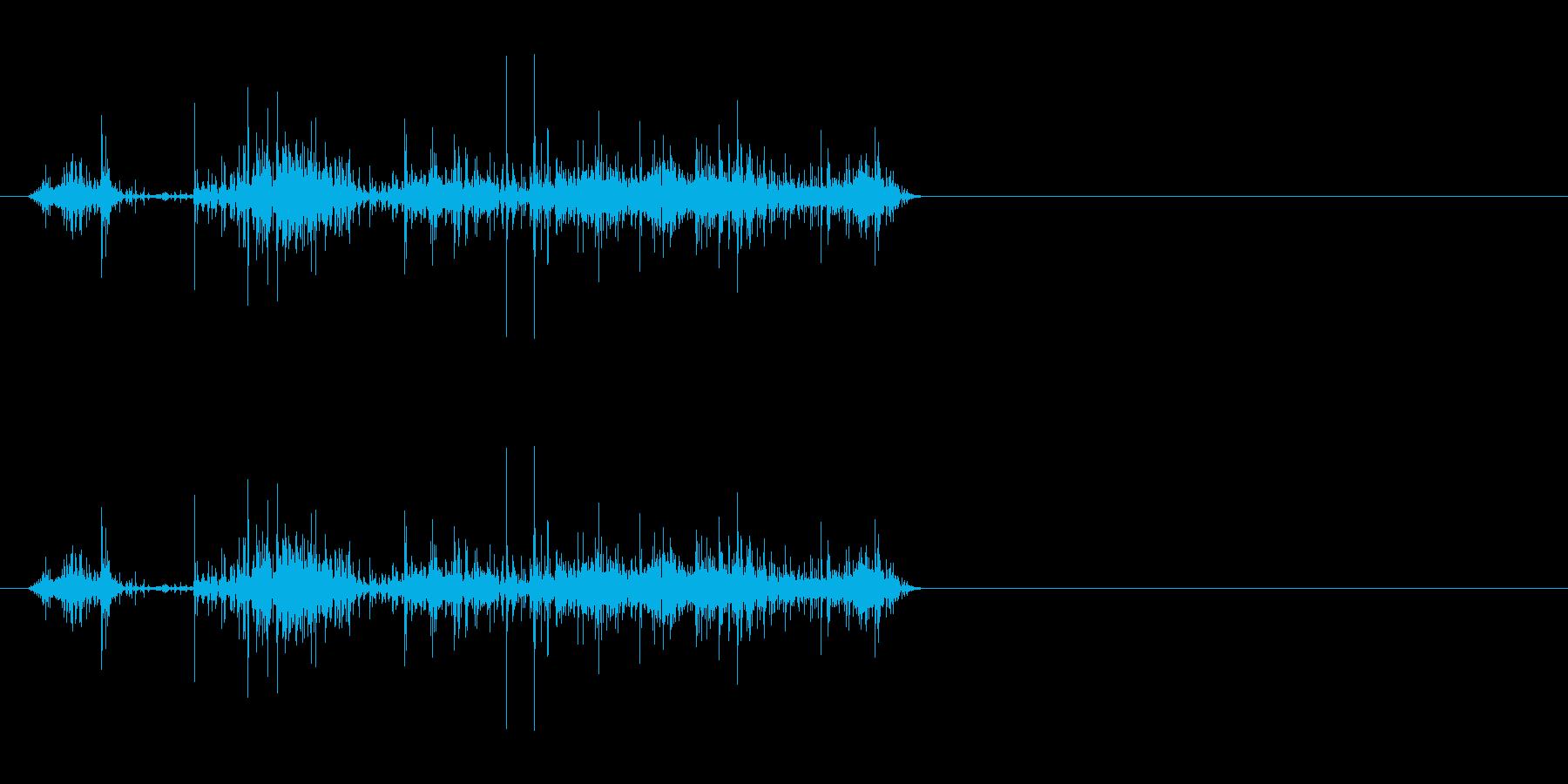 紙を破る5の再生済みの波形