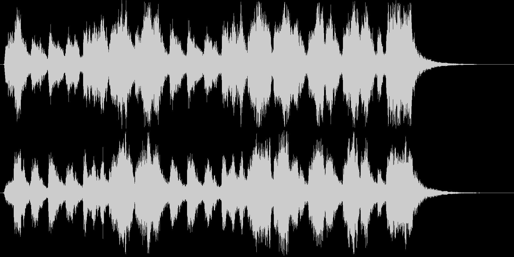 優しく楽しいショートソングの未再生の波形