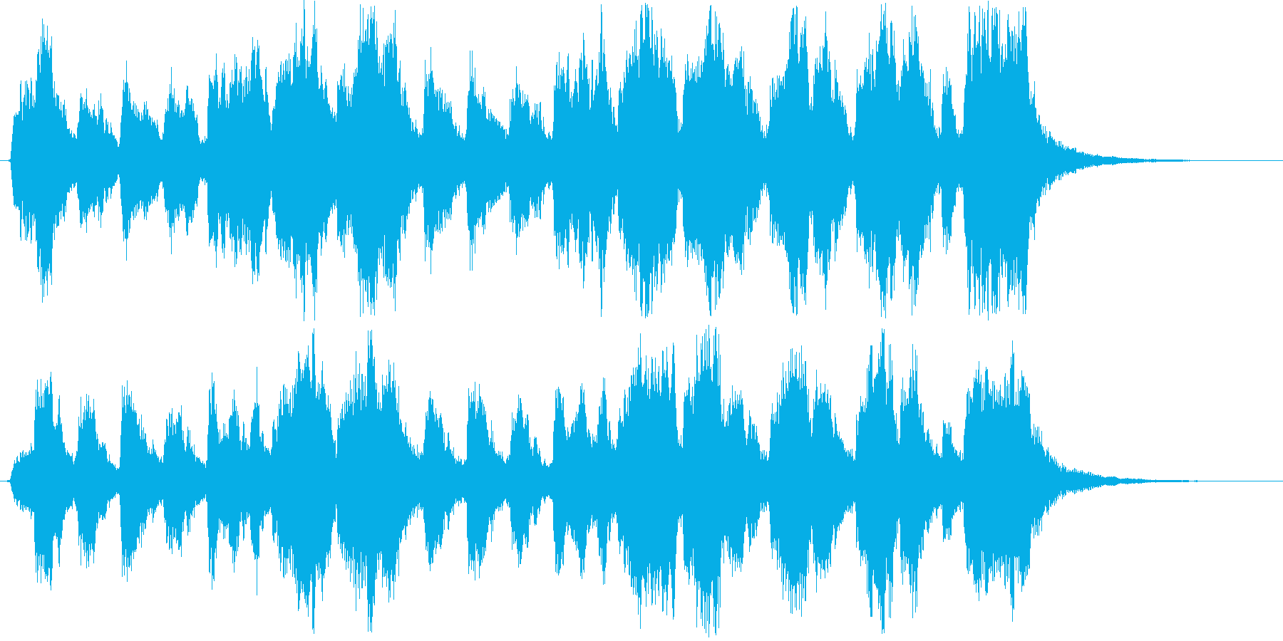 優しく楽しいショートソングの再生済みの波形