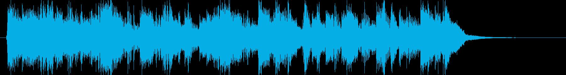 ロックンロール・ギター・元気・ジングルの再生済みの波形