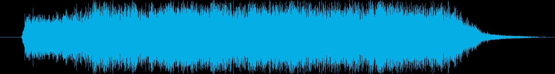 カッコいいロックジングルその1の再生済みの波形