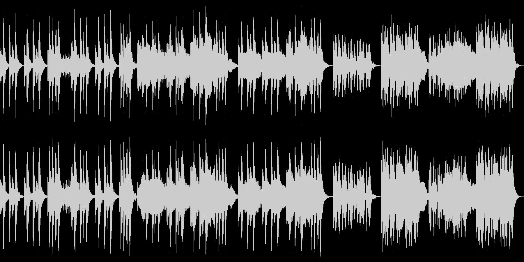 ゆったりで怪しいシンプルな曲の未再生の波形