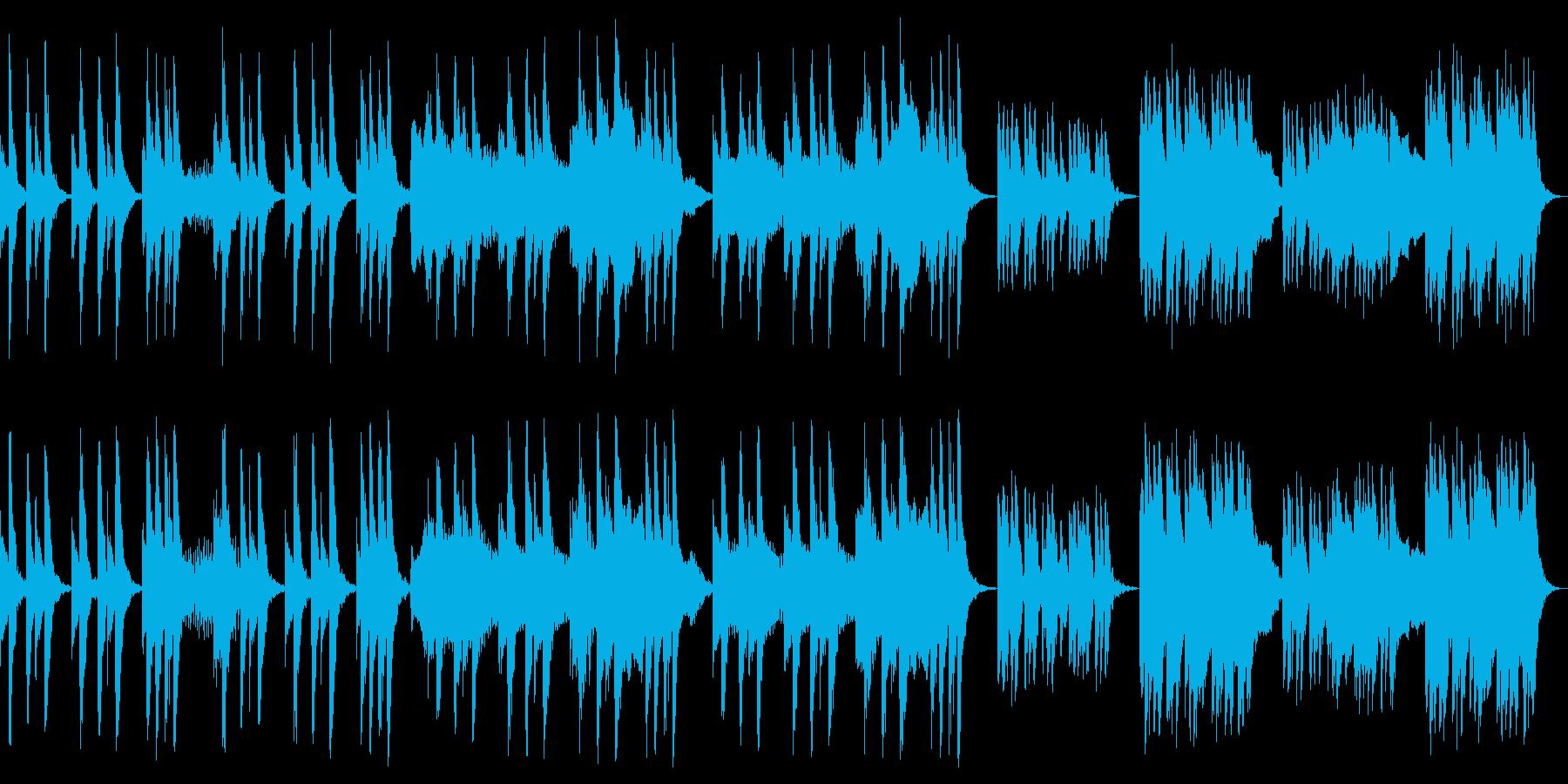 ゆったりで怪しいシンプルな曲の再生済みの波形
