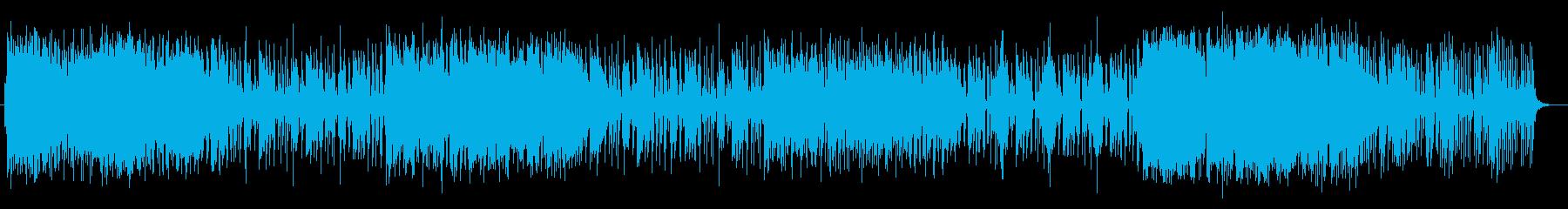 オシャレで華麗なジャズBGMの再生済みの波形