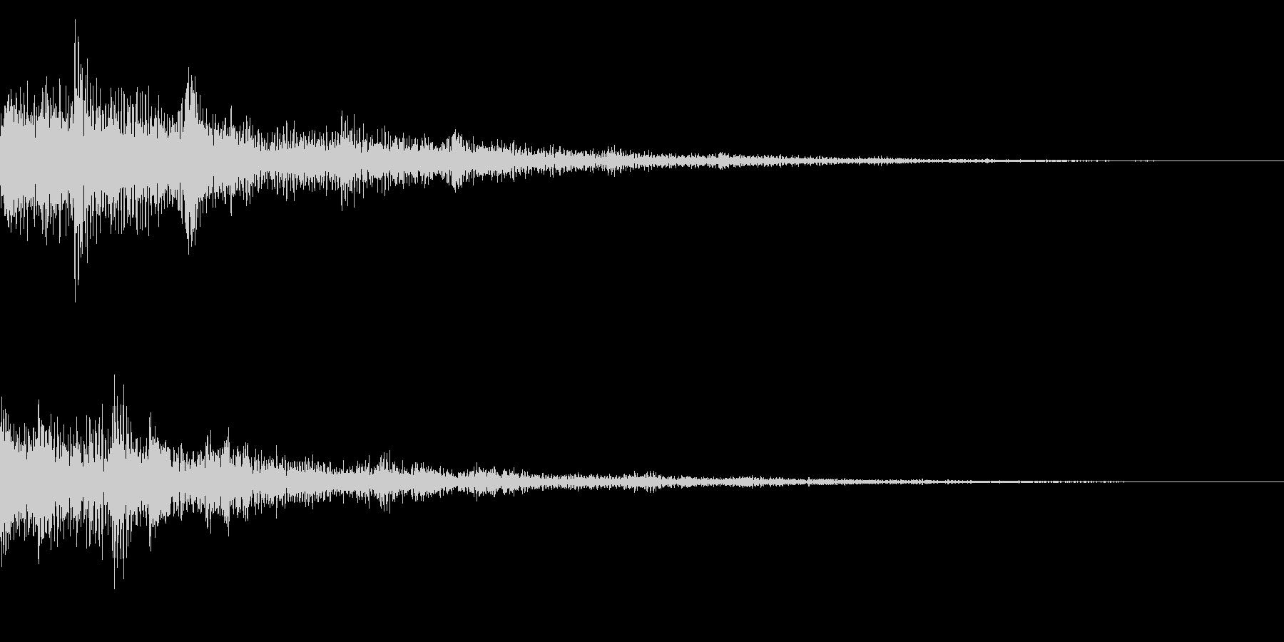 テロップ音(映像、ニュース、報道など)1の未再生の波形