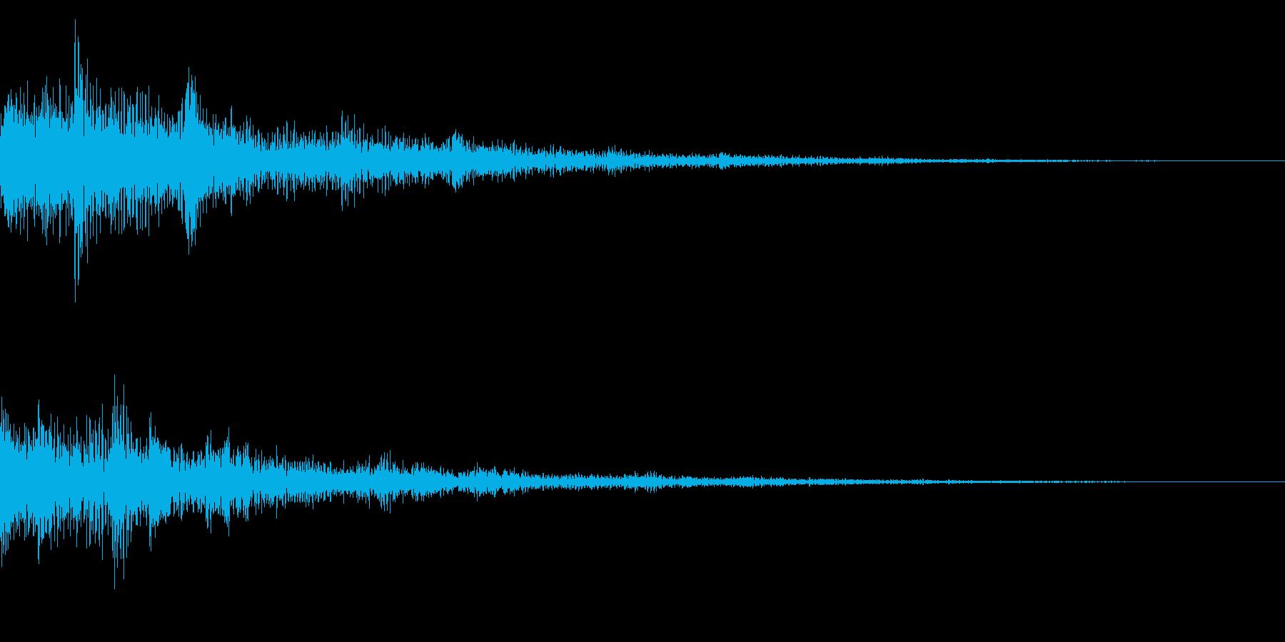 テロップ音(映像、ニュース、報道など)1の再生済みの波形