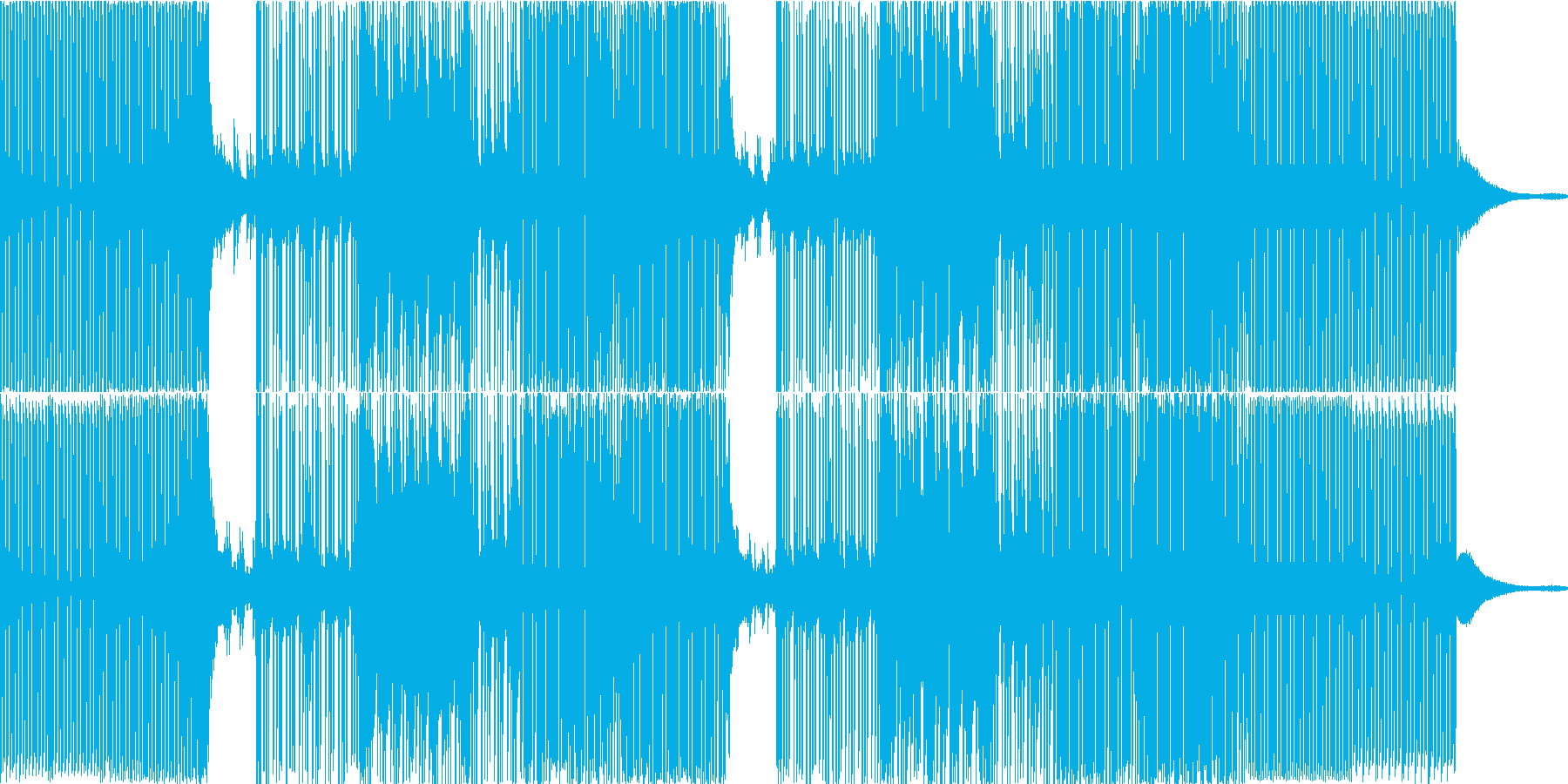 プログレッシブ、エボリューション、...の再生済みの波形