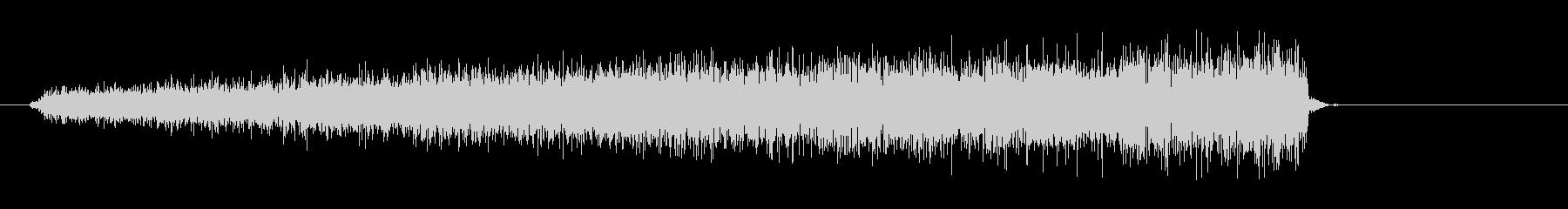 シューーッという蒸気の音の未再生の波形