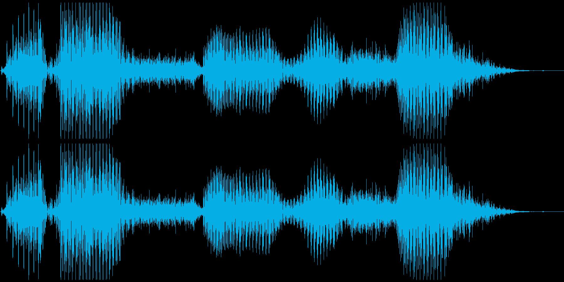「いらっしゃいませ」システムボイスにの再生済みの波形