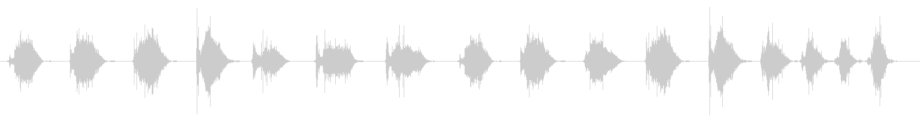 ほうきをかける効果音 02の未再生の波形