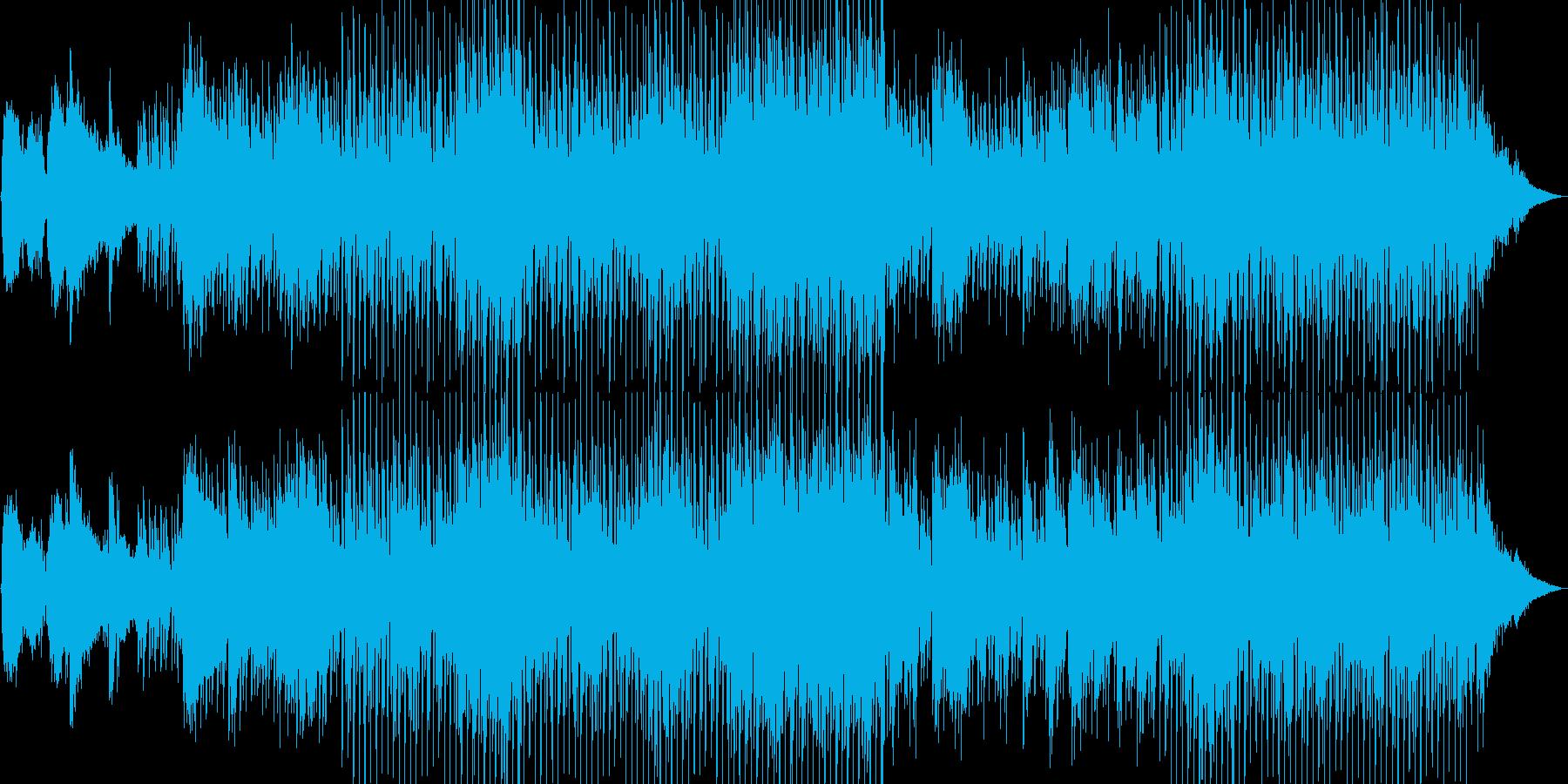 民族楽器がエキゾチックな雰囲気のBGMの再生済みの波形