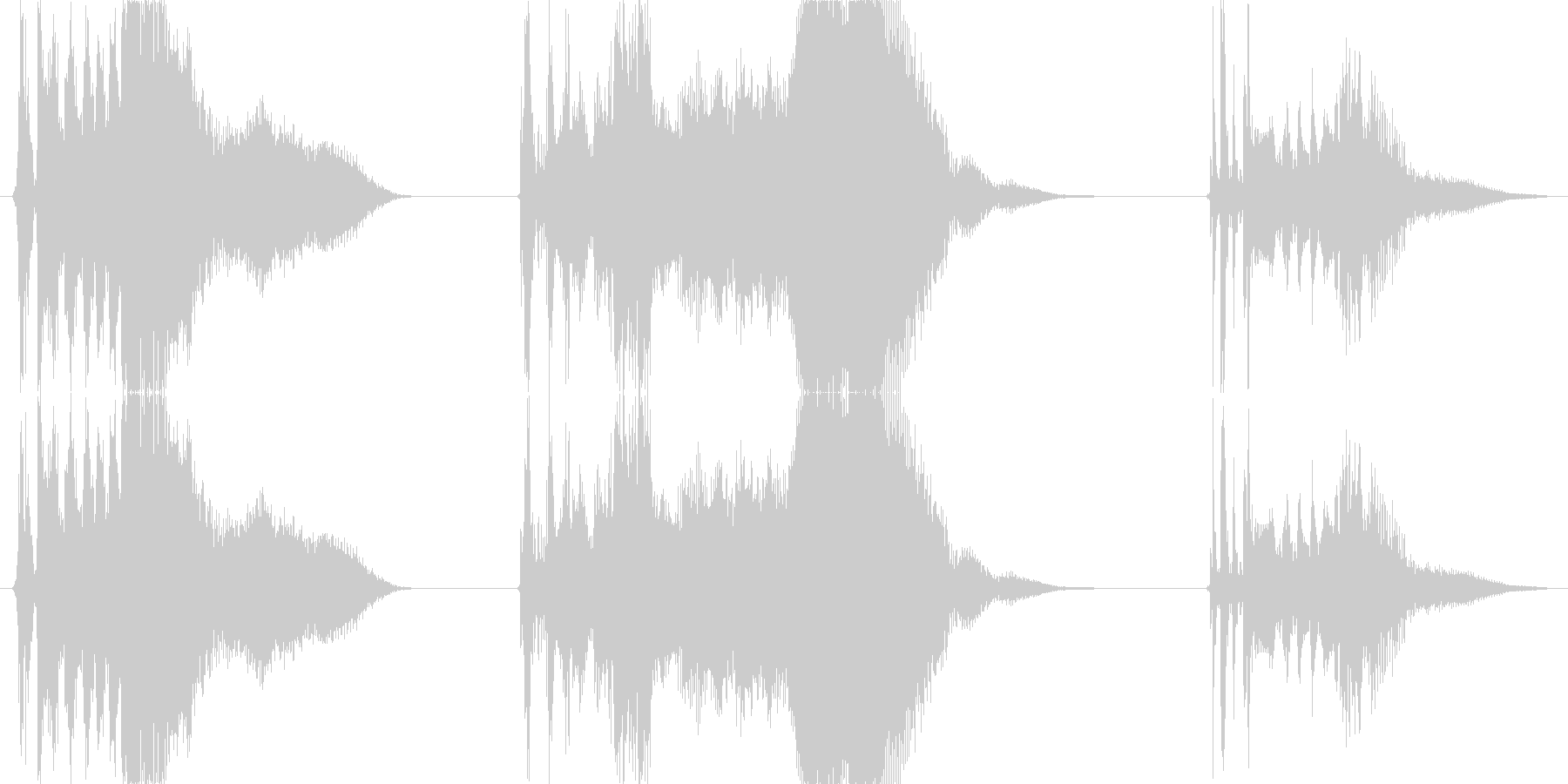 車 カースタート06の未再生の波形